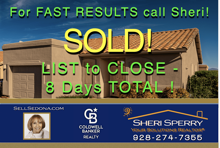 Sheri Sperry is an expert marketing sales person. Shouldn't you have Sheri working for you with your Sedona real estate.