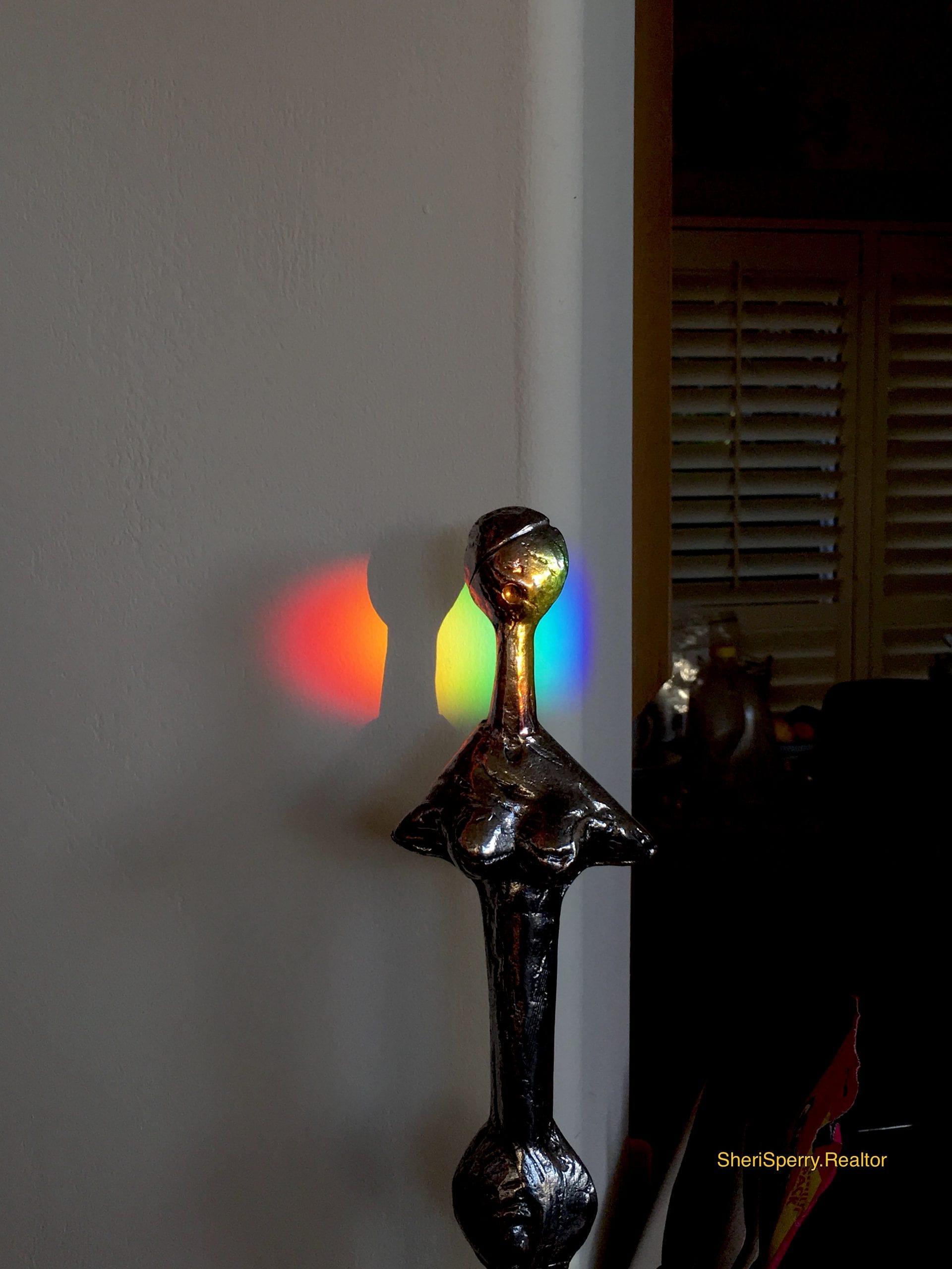 Light Spectrum - Rainbow - magic hour - Sedona AZ Cottages at coffeepot