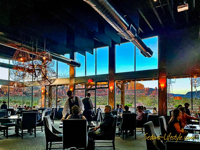 Red Rock View from inside Mariposa Grill -SellSedona - Sheri Sperry Realtor