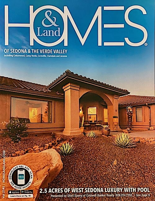 HomesandLand Cover - Sheri Sperry Sedona Luxury Home SellSedona.com