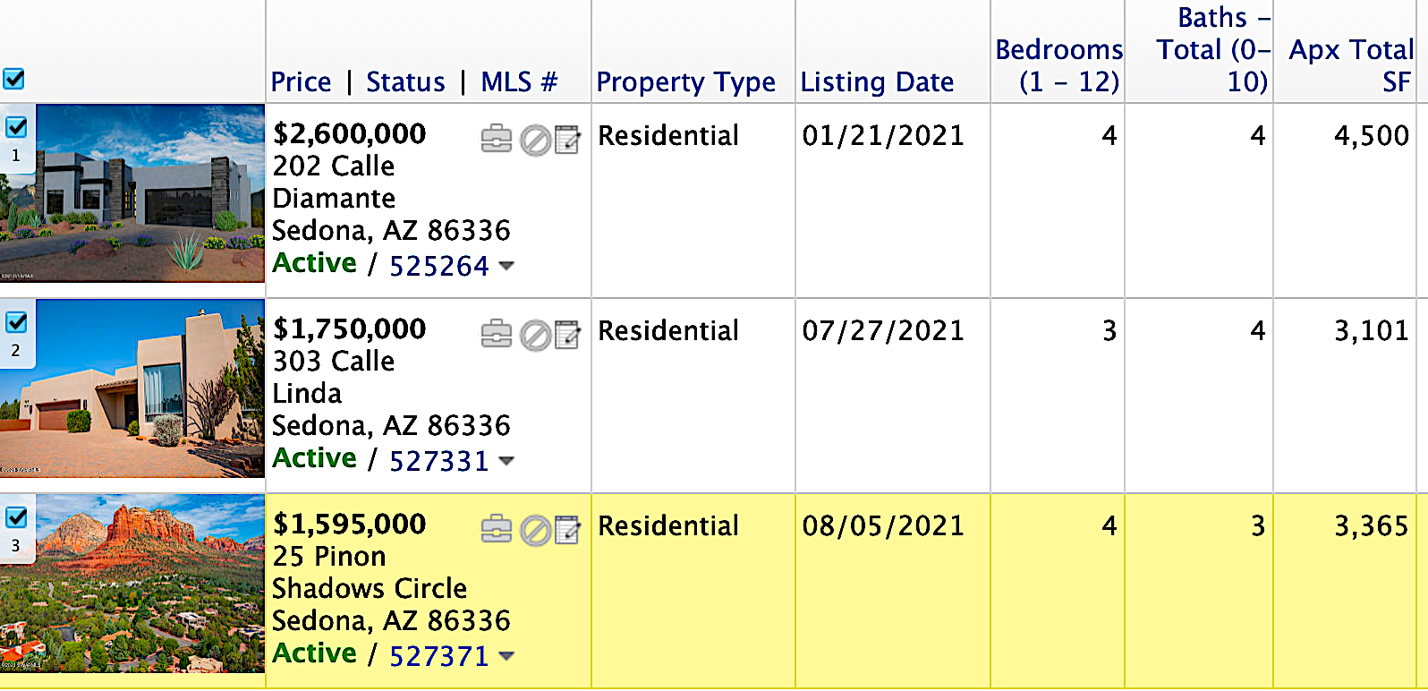 Soldiers Pass Sedona - Homes for sale August 2021