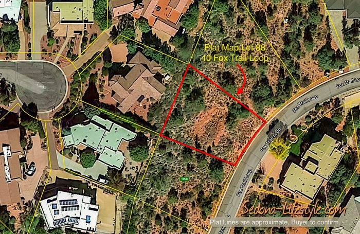 Plat Map 40 Fox Trail Loop Sedona AZ Lot For Sale