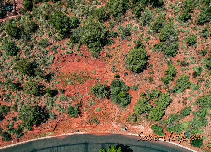 aerial view - Big Park luxury home lot for sale