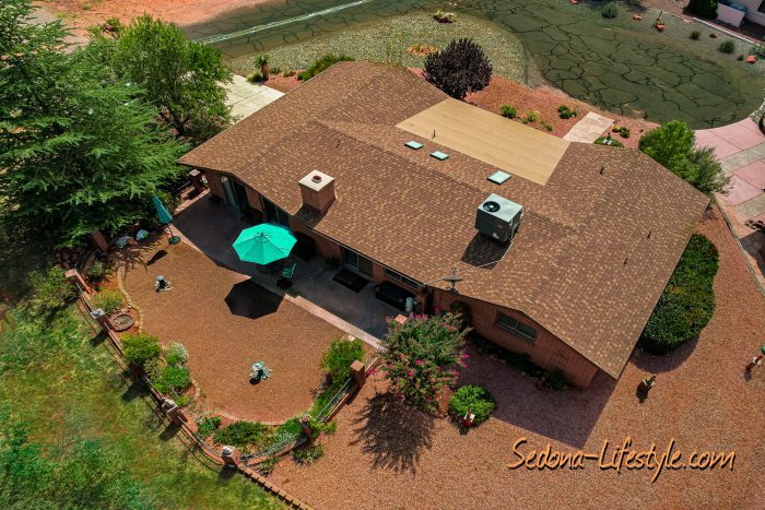 aerial of 135 Red Rock Cove Rd