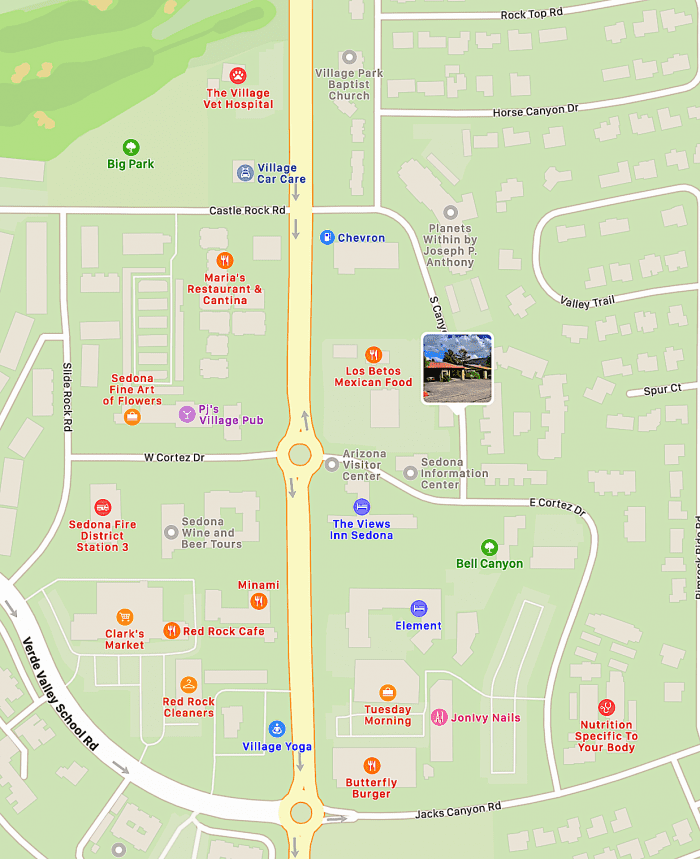 Map VOC - close to all businesses