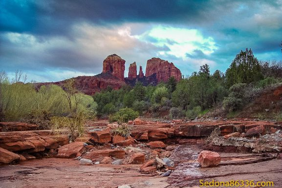 Aerial – Cathedral Rock – A Sedona Icon