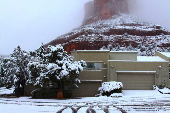 Sedona Record Snowfall! March 18, 2012