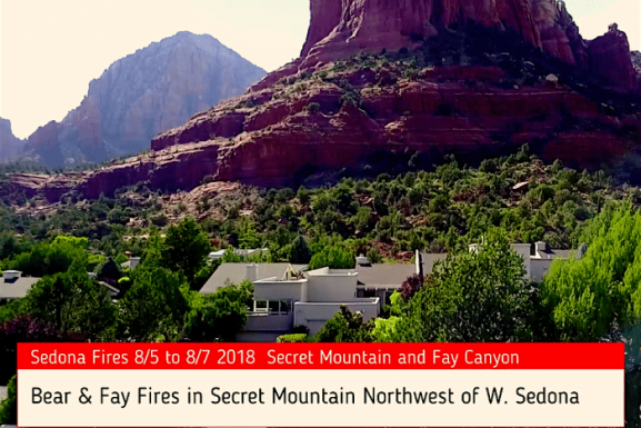 Aerial Video of Secret Mountain Fires From Soldiers Pass West Sedona