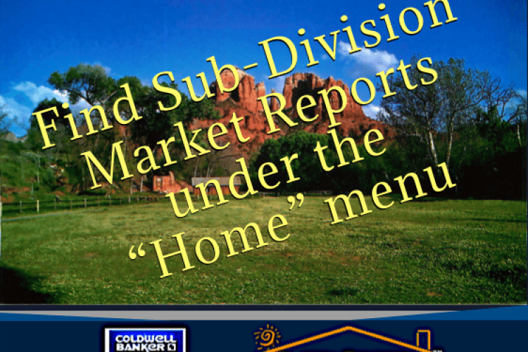 Find Sedona Sub-division Market Reports Here